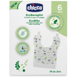 Chicco Jednorázové kompostovatelné bryndáčky 36 ks