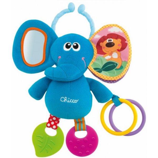 Chicco Hračka plyšová slon na kroužku 3m+