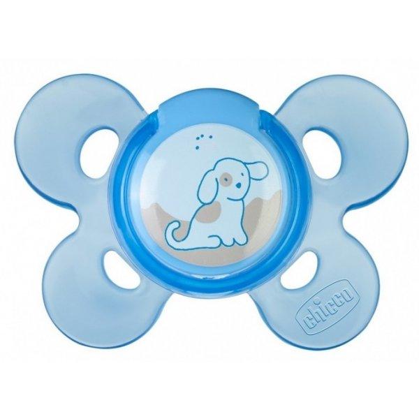 Chicco ŠIDÍTKO s pouzdrem, silikon, 0+, 1 ks Modrá