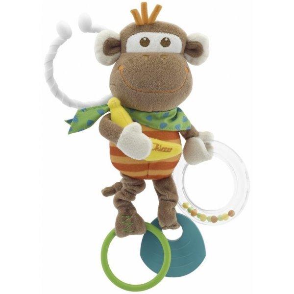 Chicco Hračka opice vibrující 3m+ Hnědá