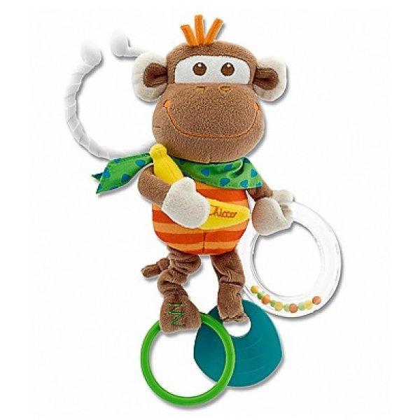 Chicco Kousátko plyš opička Hnědá