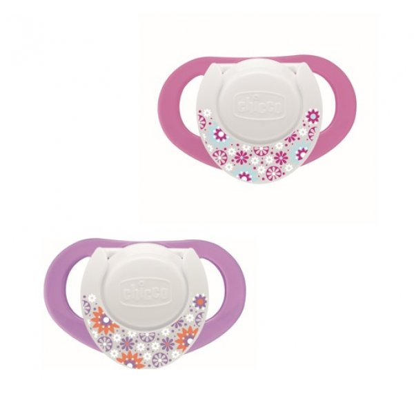 Chicco ŠIDÍTKO silikon 4+ RŮŽOVÉ , 2 ks Růžová