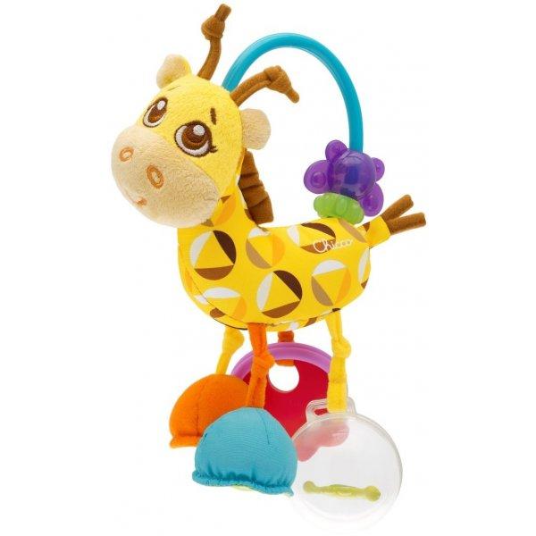 Chicco Chrastítko, žirafa plyšová Žlutá