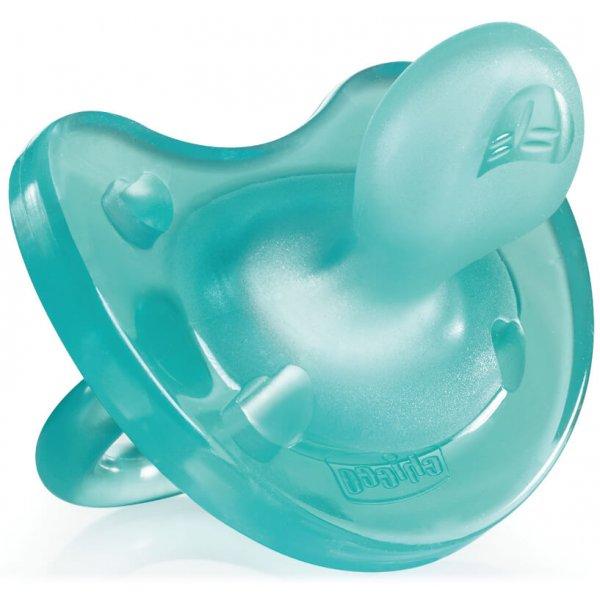 Chicco Šidítko celosilikonové ortodontické 4+ Modré