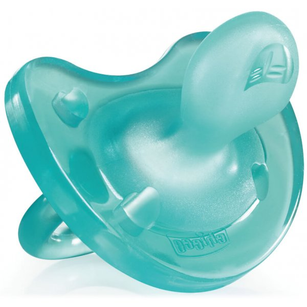 Chicco Šidítko Physio Soft celosilikónové, 0-6m+ Modré
