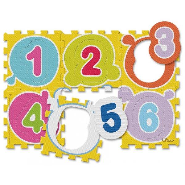 Chicco Pěnové puzzle 6 ks Čísla