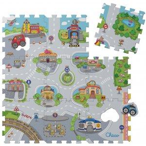Chicco Pěnové puzzle Mesto, 30x30 cm 9 ks