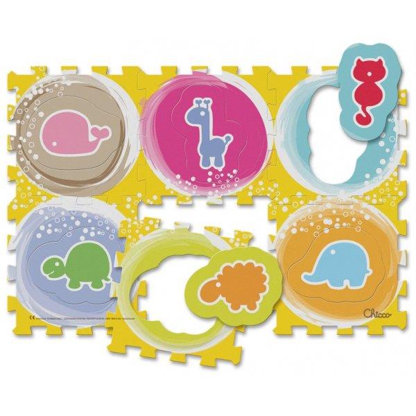 Chicco Pěnové puzzle 6 ks Zvířátka