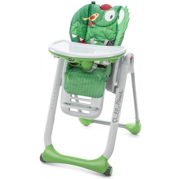 Chicco Židlička jídelní Polly 2 Start CROCODILE