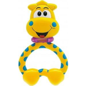 Chicco Kousátko plast - žirafa Žlutá