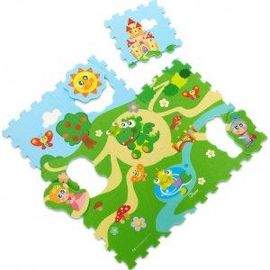 Chicco Hračka puzzle pěnové Hrad 30x30cm 9ks, 12m+