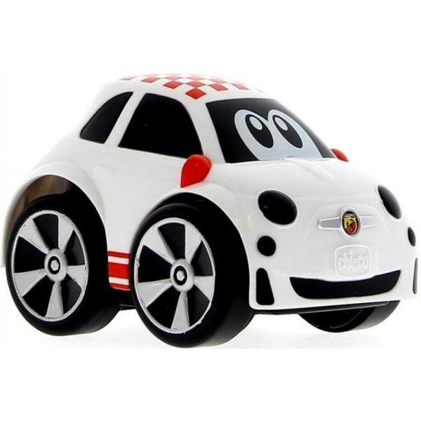 Chicco Hračka autíčko Turbo Touch Mini - Fiat 500 Abarth Bílá