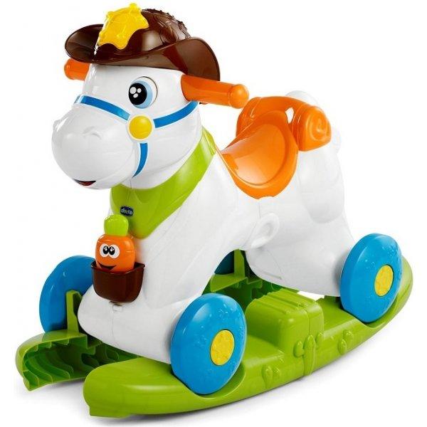 Chicco Hračka koník Rodeo Bílá