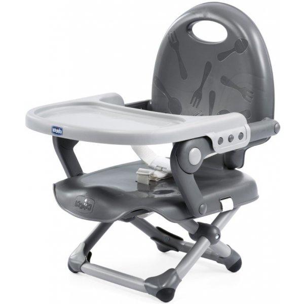 Chicco Podsedák na jídelní židli přenosný Pocket Snack Dark Grey