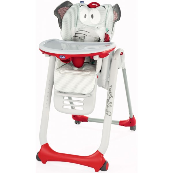 Chicco Židlička jídelní Polly 2 Start 2018 BABY ELEPHANT