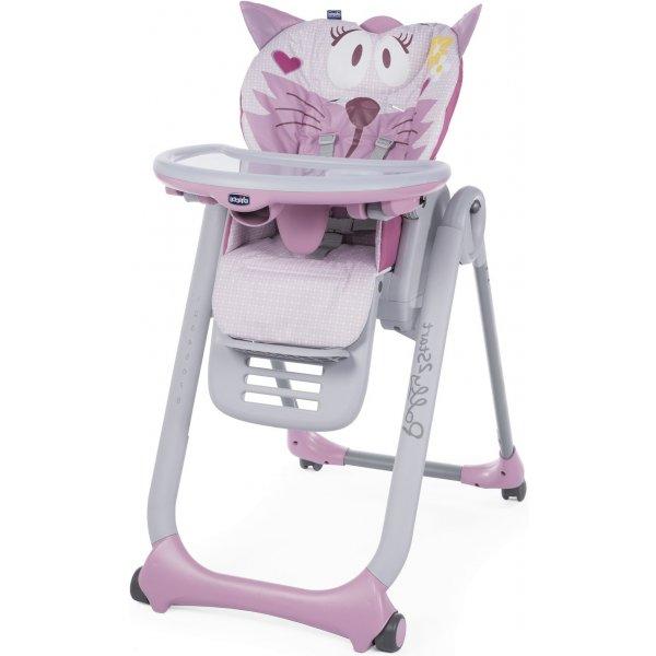 Chicco Židlička jídelní Polly 2 Start MISS PINK