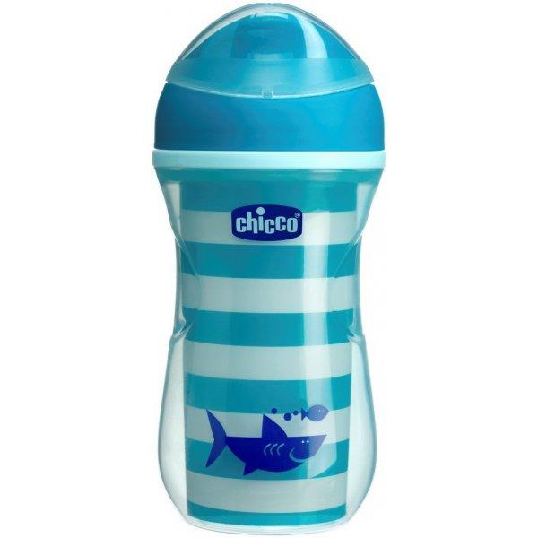 Chicco Hrneček Active termo s tvrdým pítkem 266 ml, 12m + Modrý