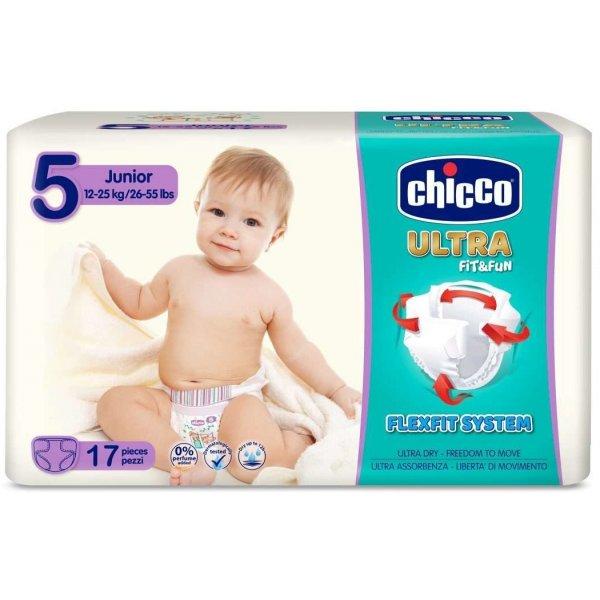 Chicco Jednorázové pleny Ultra Junior 17ks Bílá