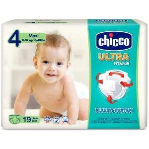 Chicco Jednorázové pleny Ultra Maxi 8-18kg 19ks Bílá