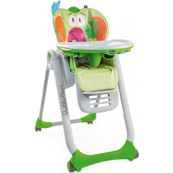 Chicco Židlička jídelní Polly 2 Start Parrot