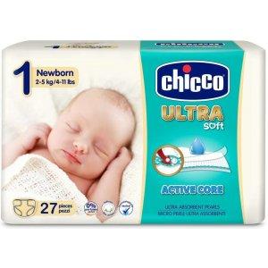 Chicco Jednorázové pleny Ultra Newborn 27ks Bílá