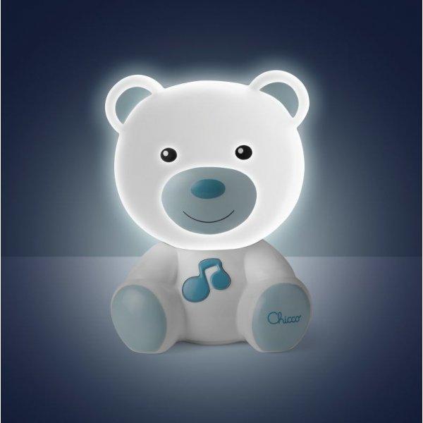 Chicco Noční světlo Medvídek Modré