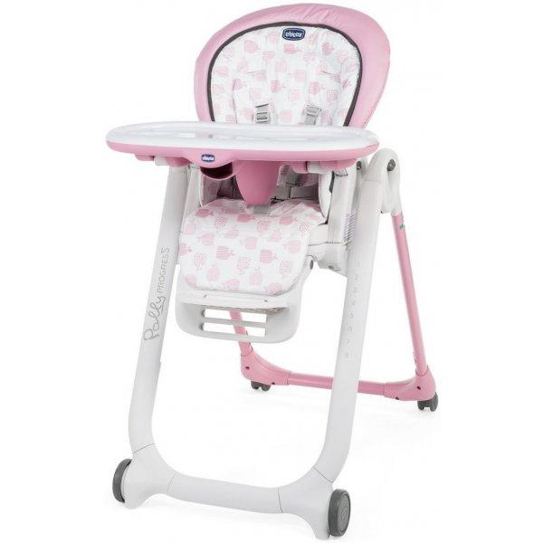 Chicco Židlička jídelní Polly Progres5 Pink