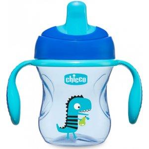 Chicco Hrneček Trénujeme s držadly 200 ml, 6m+ Modrý
