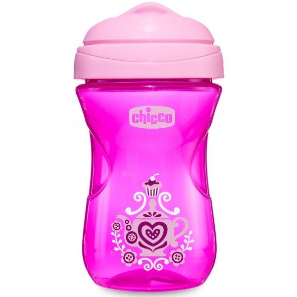 Chicco Hrneček Snadný s hubičkou 266 ml, 12m+ Růžový