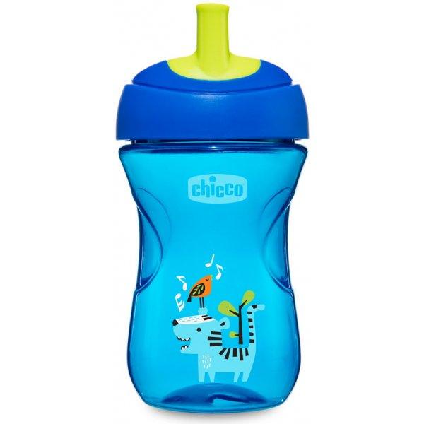 Chicco Hrneček Pokročilý s brčkem 266 ml, 12m + Modrý