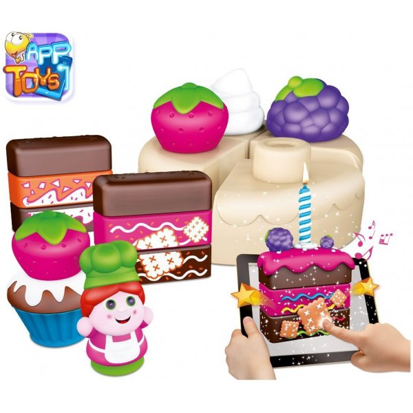 Chicco Hračka stavebnice App Toys 30ks - Koláčovo