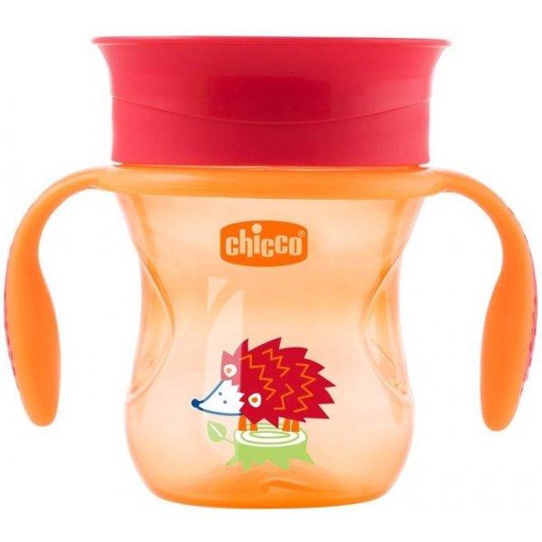 Chicco Hrneček 360 s držadly 200 ml, 12m+ Oranžový