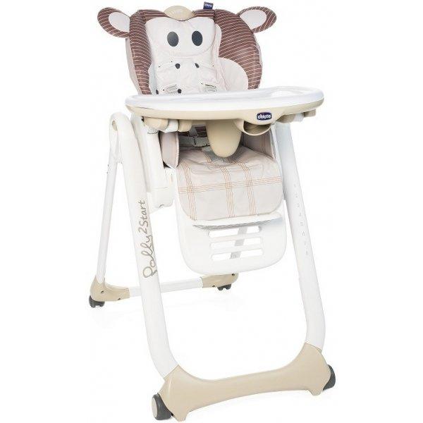 Chicco Židlička jídelní Polly 2 Start Monkey